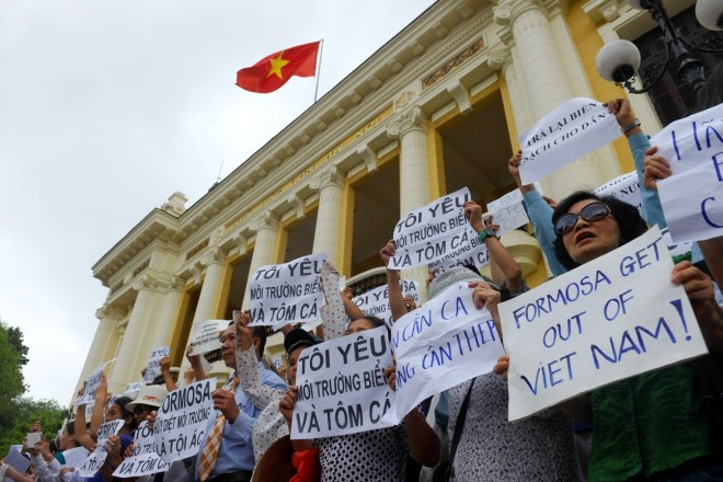 VIETNAM-TAIWAN-ENVIRONMENT-POLLUTION-PROTEST